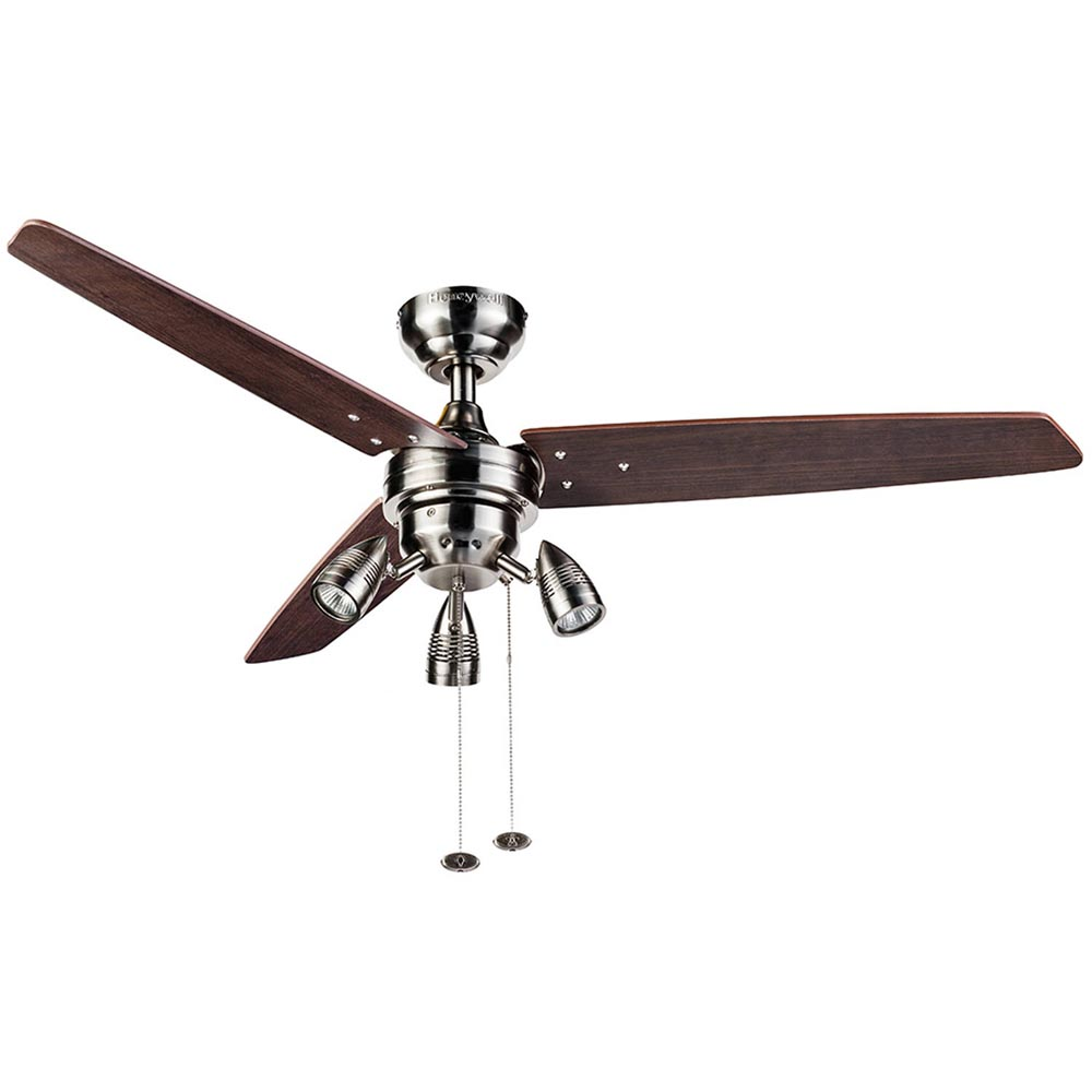 Honeywell Wicker Park Ceiling Fan, Satin Nickel, 48 Inch