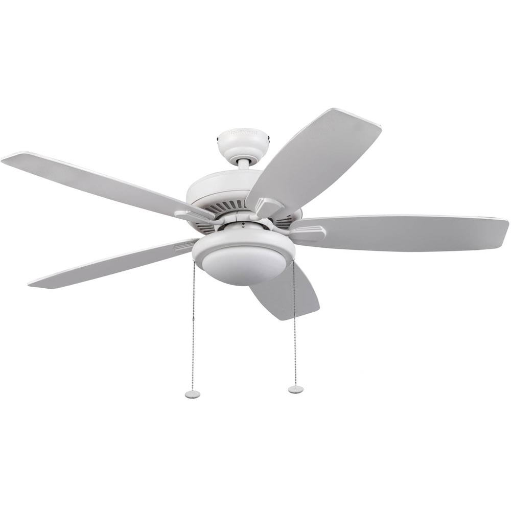 Honeywell Blufton Outdoor & Indoor Ceiling Fan, White, 52 Inch - 10282