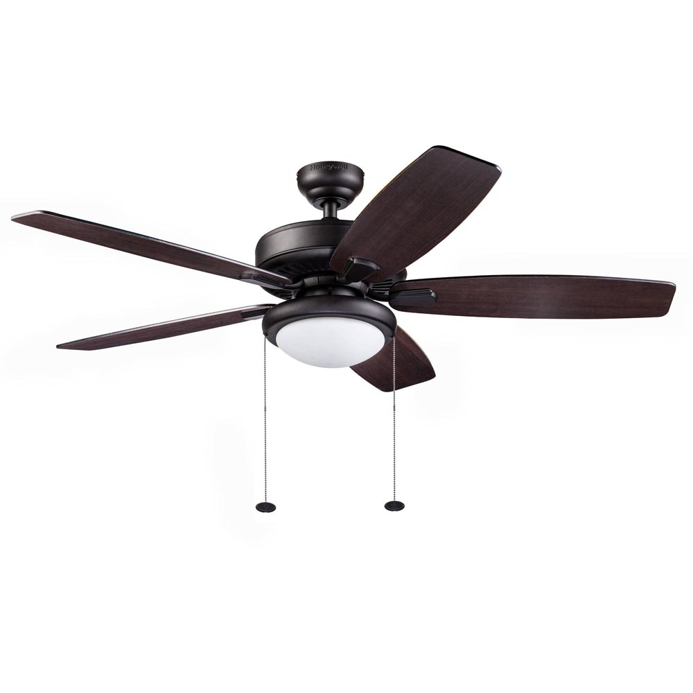 Large Ceiling Fans For High Ceilings Australia: Honeywell Blufton Outdoor Ceiling Fan, Bronze, 52 Inch