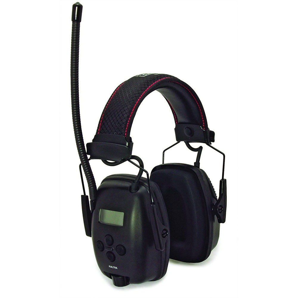 Honeywell Digital AM/FM RadioHearing protector (Earmuff), with an AUX input jack (Black) - 1032460