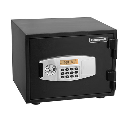 Honeywell 2111 water resistant steel fire and security for Safe and secure products
