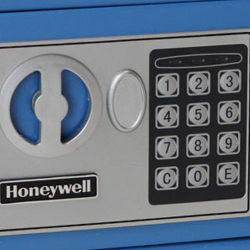 Honeywell 5005B Digital Steel Compact Security Safe (.19 cu ft.) - Blue