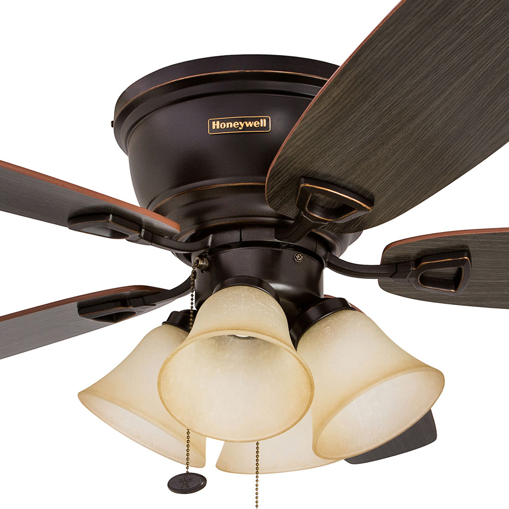 Honeywell Glen Alden Ceiling Fan, Oil Rubbed Bronze Finish, 52 Inch - 50183