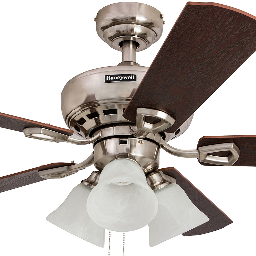 Honeywell Springhill Ceiling Fan, Brushed Nickel Finish, 44 Inch - 50184