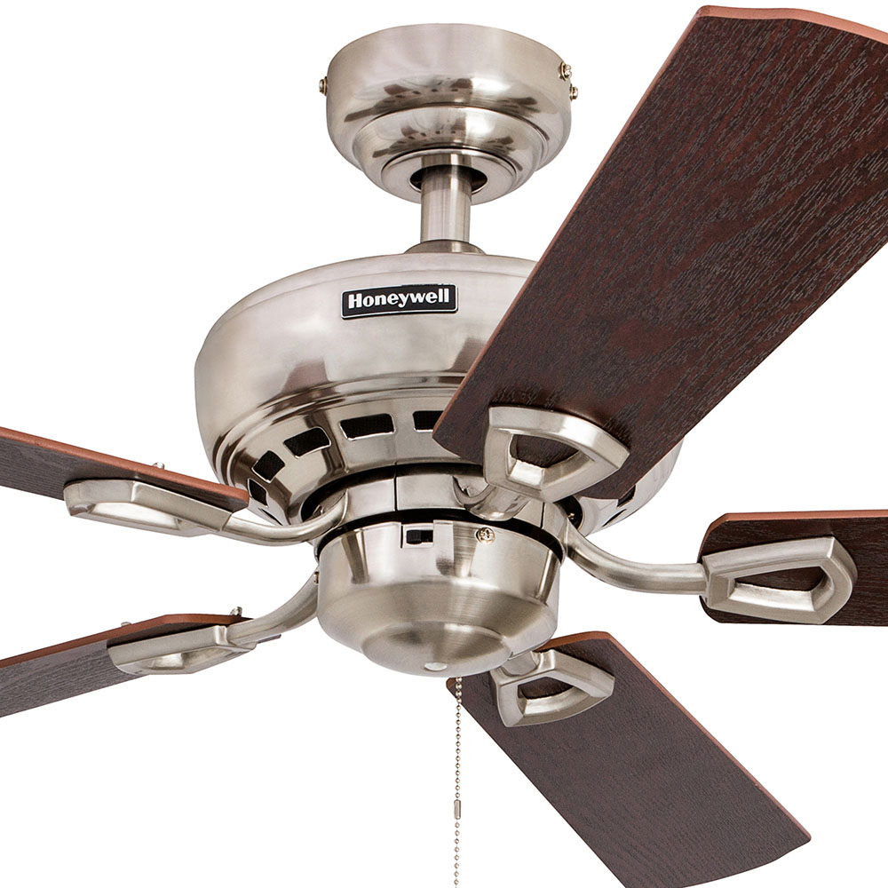 Honeywell Springhill Ceiling Fan Brushed Nickel Finish
