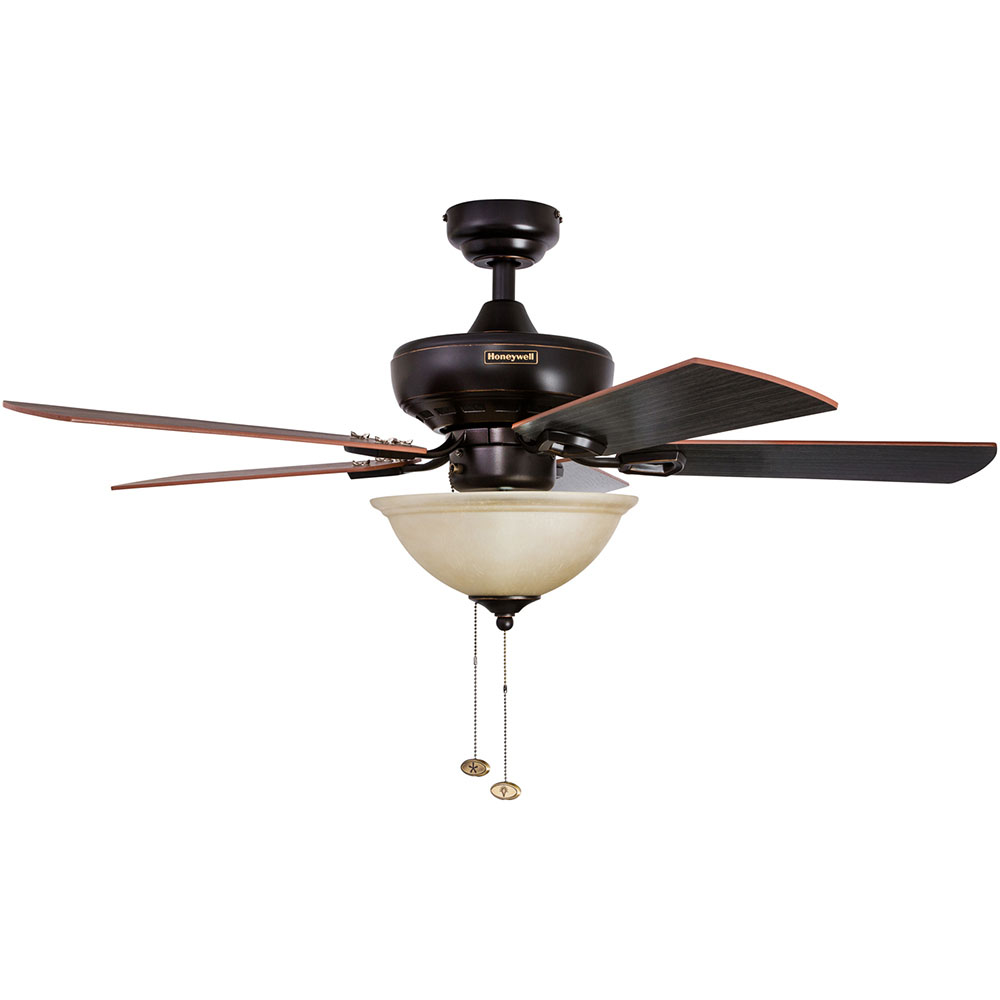 Honeywell Woodcrest Ceiling Fan Oil Rubbed Bronze Finish 44 Inch 50187