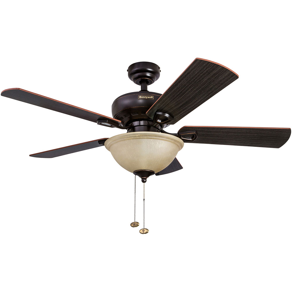 honeywell woodcrest ceiling fan oil rubbed bronze finish 44 inch