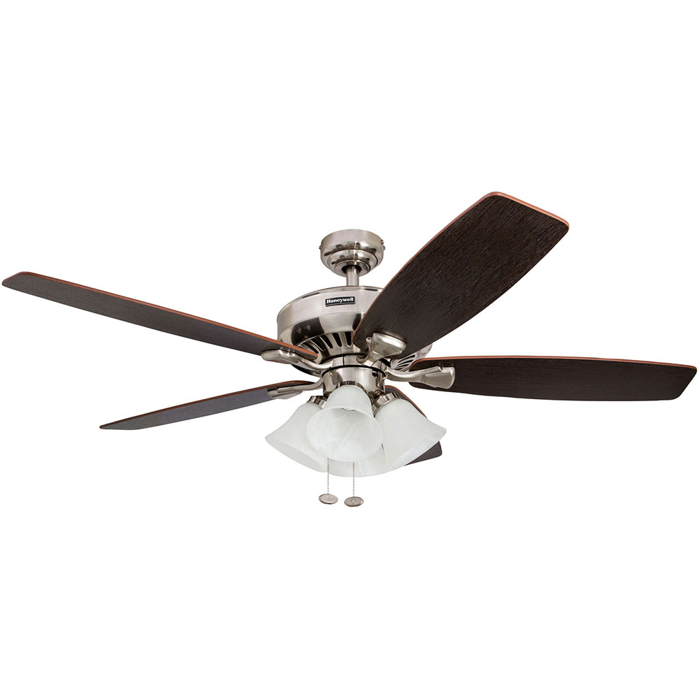 Honeywell Birnham Ceiling Fan, Brushed Nickel Finish, 52 Inch - 50191