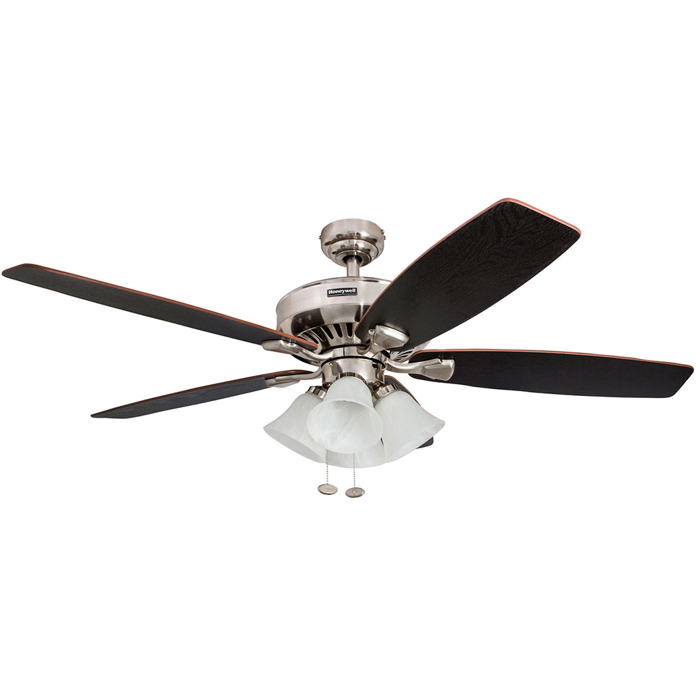 Honeywell Birnham Ceiling Fan Brushed Nickel Finish 52 Inch 50191