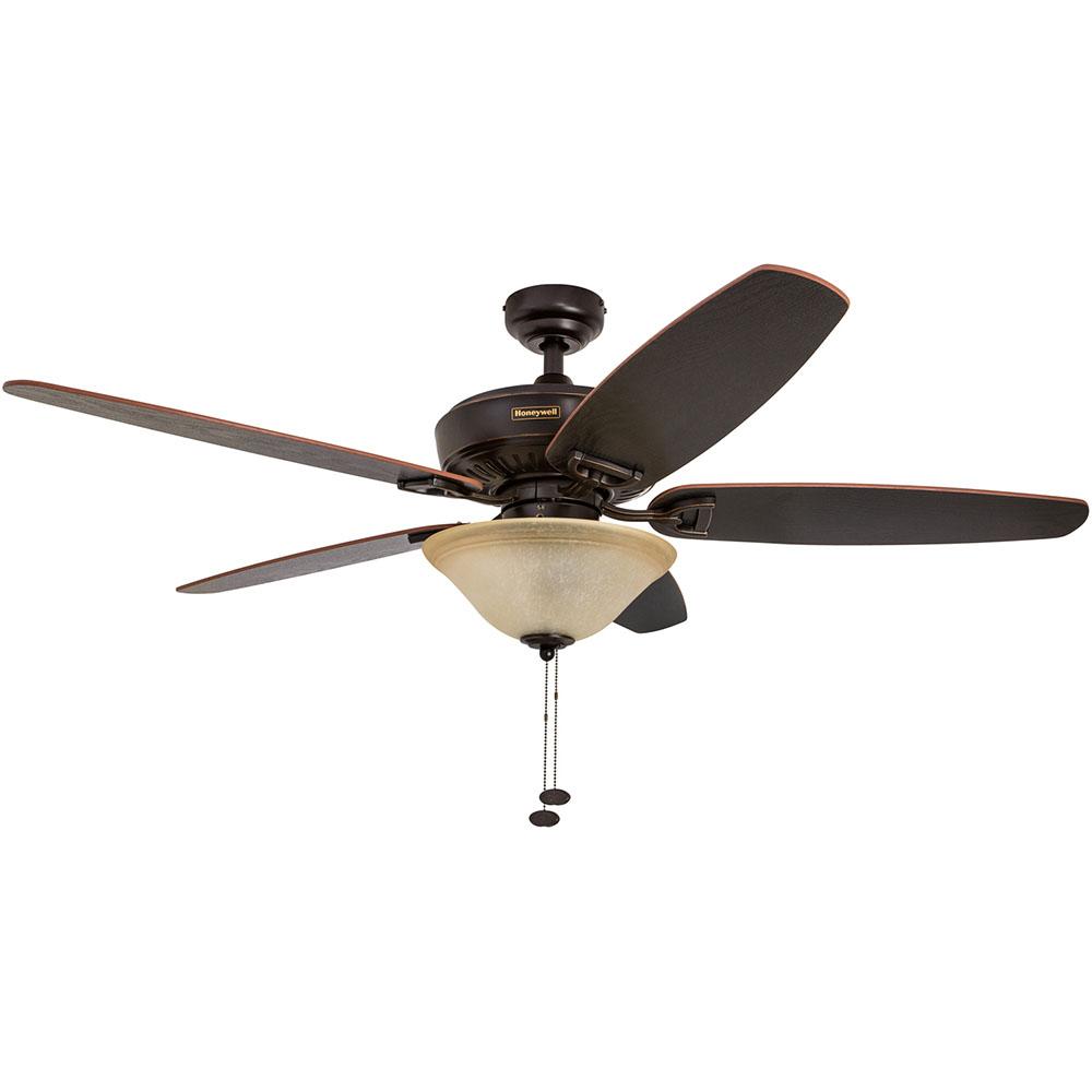 Honeywell Belmar Ceiling Fan Oil Rubbed Bronze Finish 52