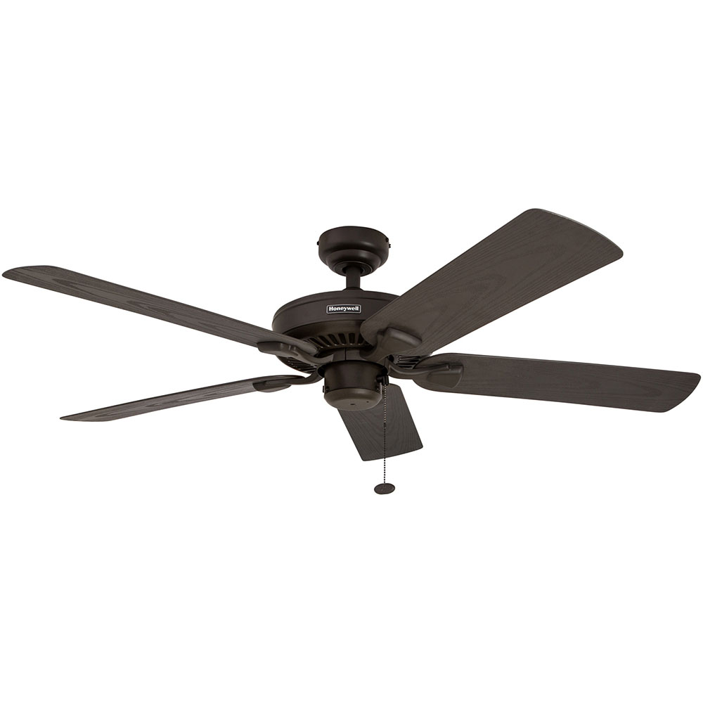 Honeywell Belmar Outdoor Ceiling Fan Bronze Finish 52 Inch