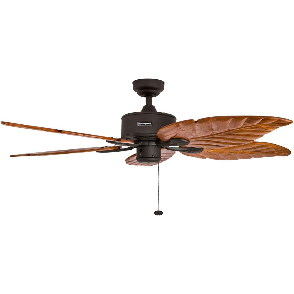 Honeywell Sabal Palm Ceiling Fan, Bronze Finish, 52 Inch - 50204