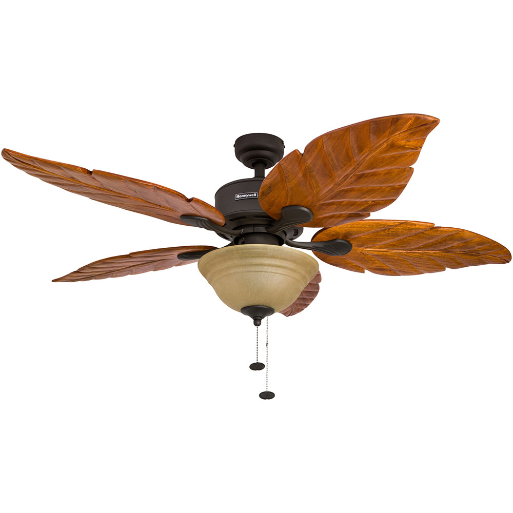 Honeywell Sabal Palm Ceiling Fan Bronze Finish 52 Inch