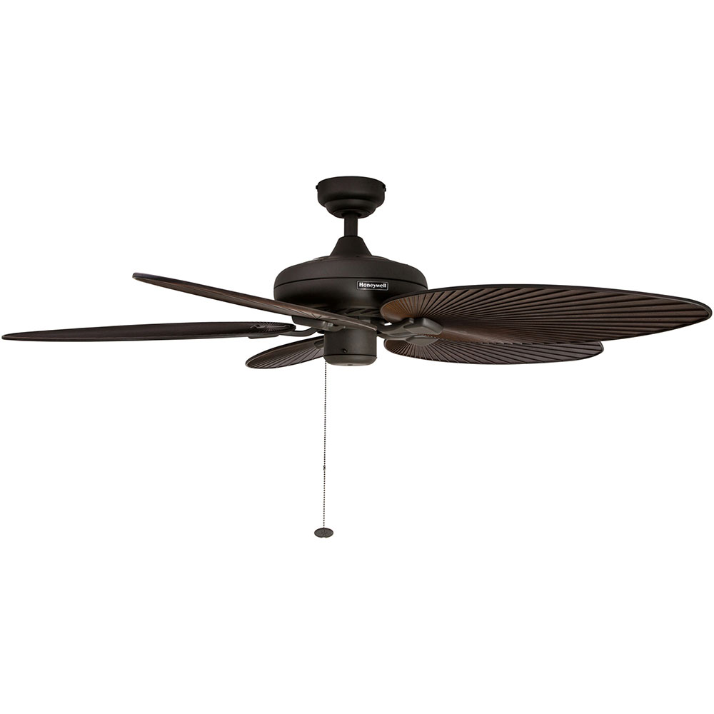 Honeywell Palm Island Ceiling Fan, Bronze Finish, 52 Inch - 50207
