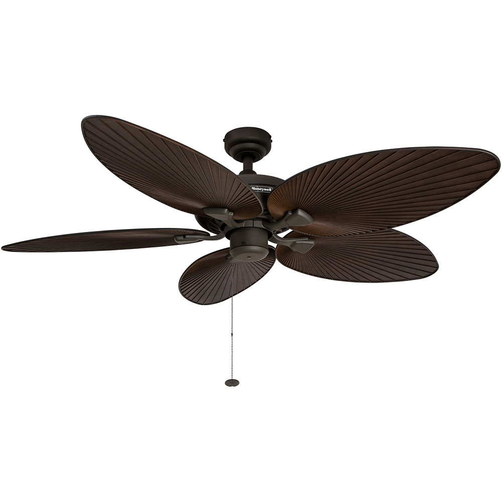 High Speed Outdoor Ceiling Fans: Honeywell Palm Island Ceiling Fan, Bronze Finish, 52 Inch