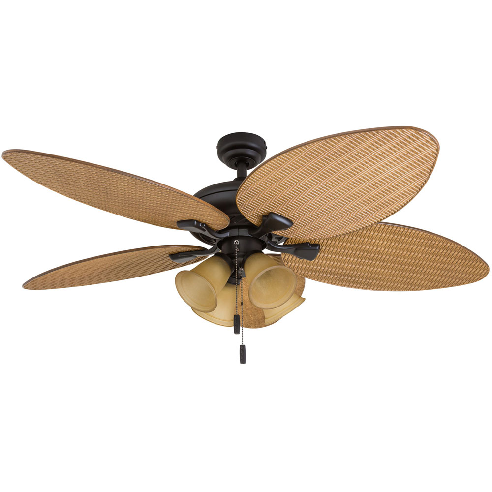 Honeywell Palm Valley Ceiling Fan, Bronze Finish, 52 Inch ...
