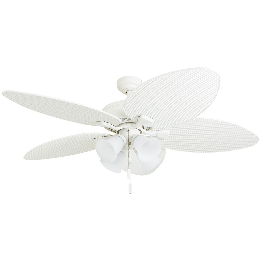 Honeywell Palm Lake Ceiling Fan White Finish 52 Inch