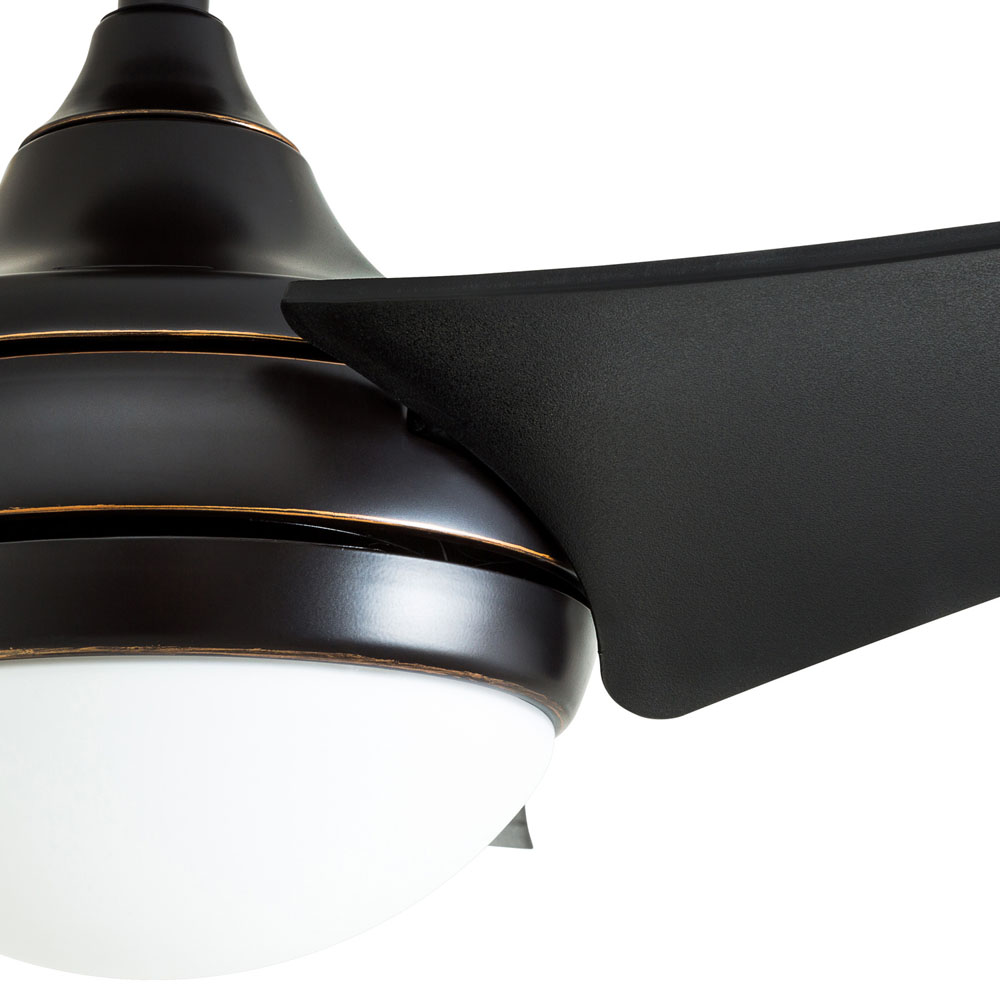 Honeywell Rio 52-Inch Oil Rubbed Bronze Contemporary LED Ceiling Fan, 3 Blade with Remote - 50514-03