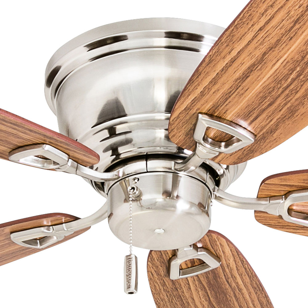 Honeywell Glen Alden 52-Inch Brushed Nickel Low Profile Hugger Ceiling Fan - 50515-03