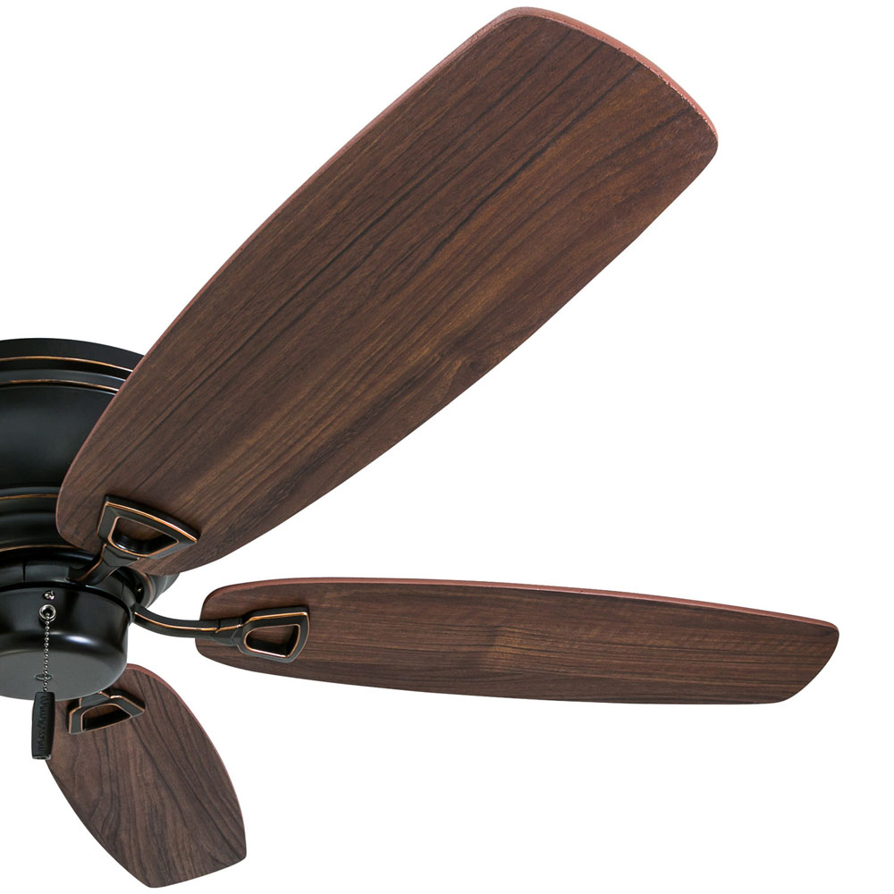 Honeywell Glen Alden 52-Inch Oil Rubbed Bronze Low Profile Hugger Ceiling Fan - 50516-03