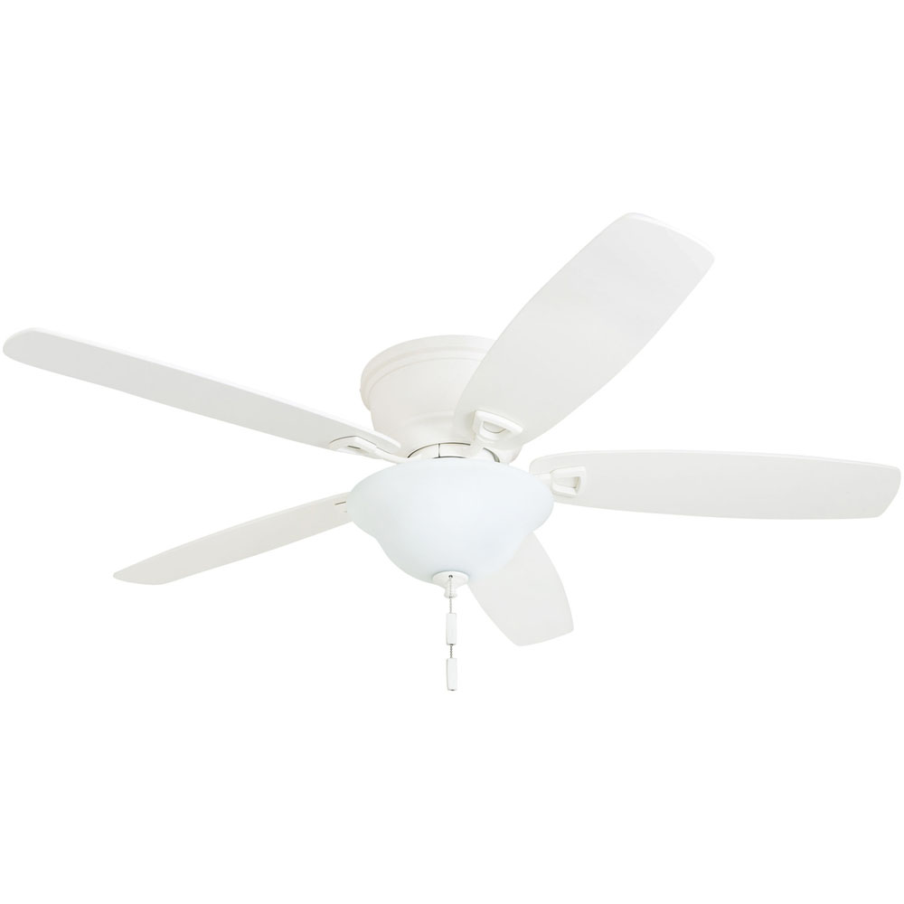 Honeywell Glen Alden 52-Inch White Low Profile LED Ceiling Fan with Light - 50518-03