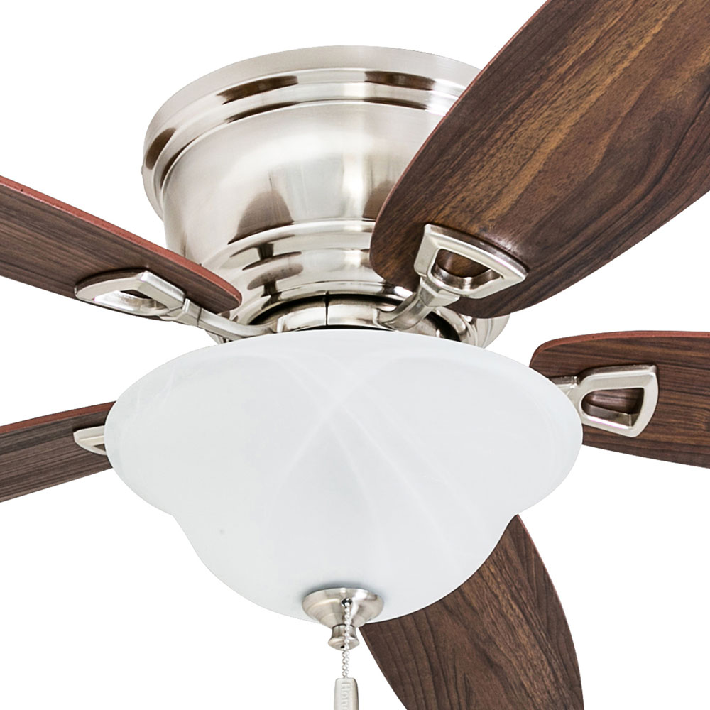 Honeywell Glen Alden 52-Inch Brushed Nickel Low Profile LED Ceiling Fan with Light - 50519-03