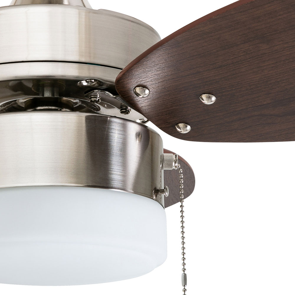 Honeywell Ocean Breeze 30-Inch Brushed Nickel Small LED Ceiling Fan with Light - 50601-03