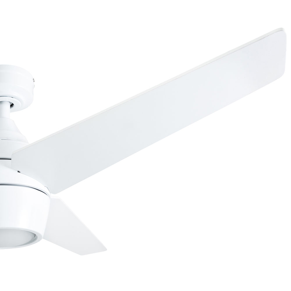 Honeywell Eamon 52-Inch Modern Bright White Remote Control Ceiling Fan with Integrated LED Light, 3 Blade - 50605-03
