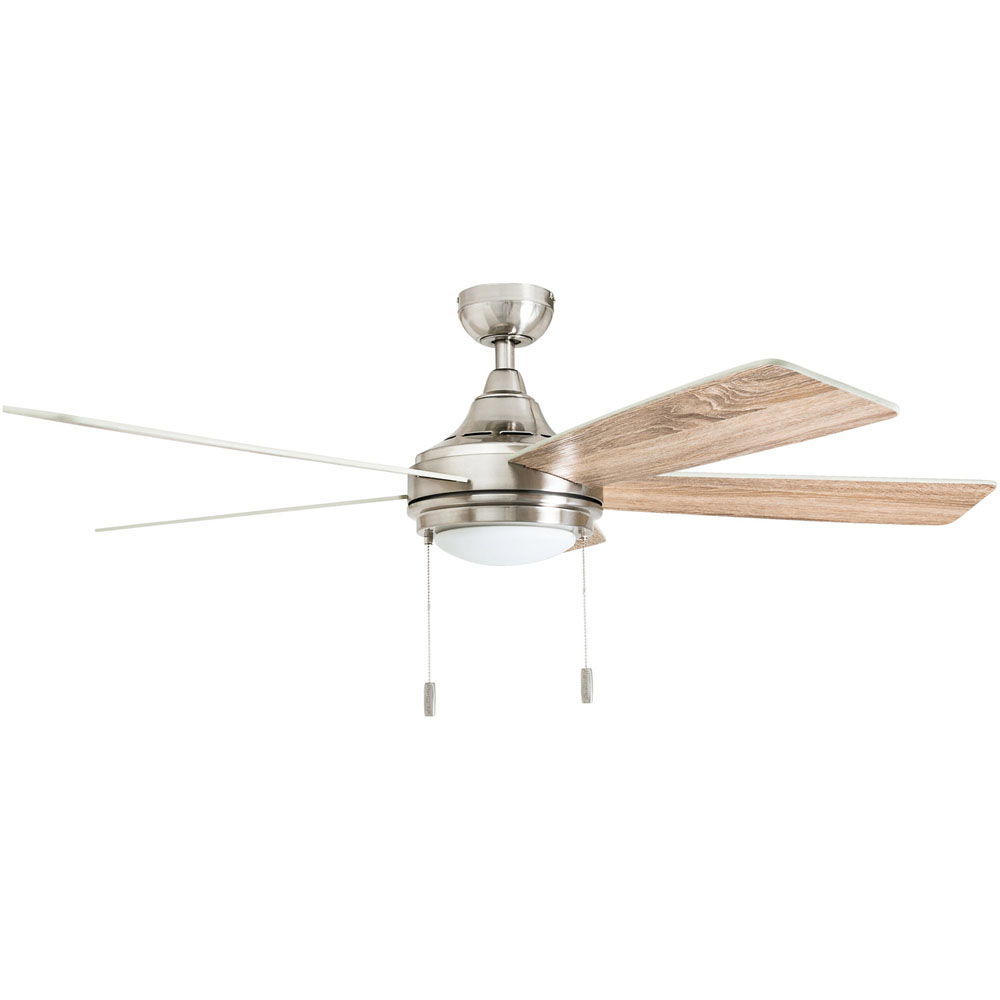 Honeywell Ventnor 52-Inch Modern Brushed Nickel LED Ceiling Fan with Integrated Light - 50606-03