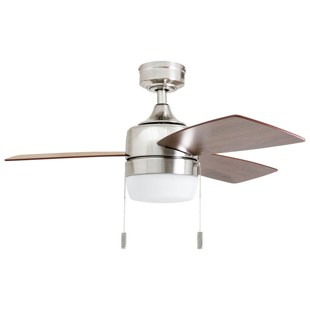 Honeywell Barcadero 44-Inch Modern Brushed Nickel LED Ceiling Fan with Integrated Light - 50616-03