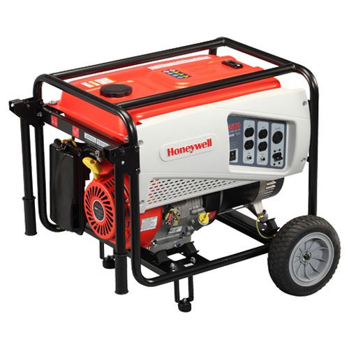 Honeywell 5,500 Watt 389cc OHV Portable Gas Powered Generator & Maintenance Kit