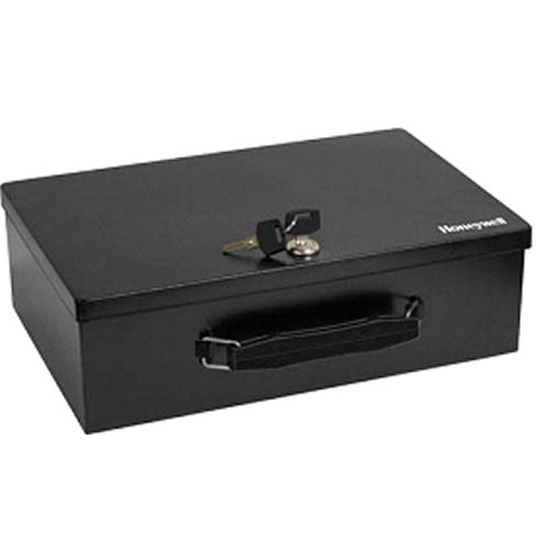 Honeywell Fire Resistant Steel Security Box With Key Lock