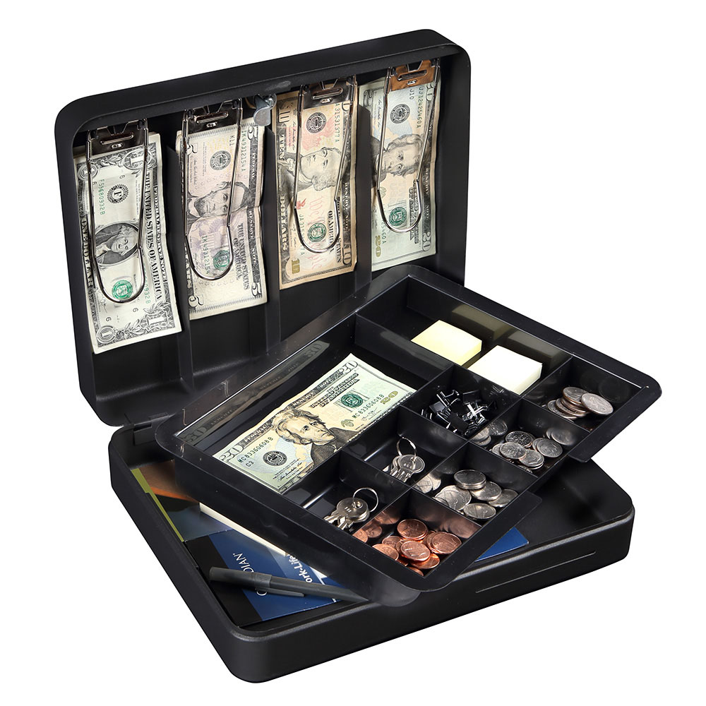 Honeywell 6113 Deluxe Steel Cash Box (5 Bill/8 Coin Slots)