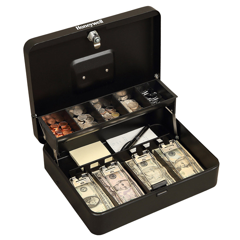 Honeywell 6213 Tiered Cantilever Cash Box 4 Bill 5 Coin Slots