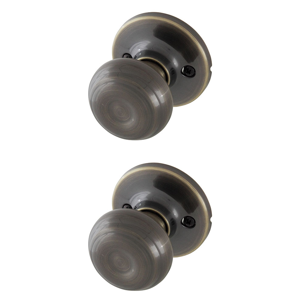 Honeywell Classic Passage Door Knob, Antique Brass, 8101103