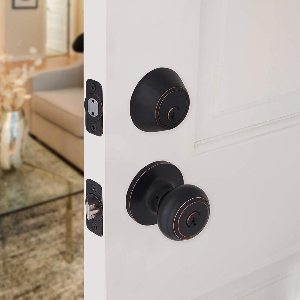 Honeywell Classic Door Knob Combo Set, Oil Rubbed Bronze, 8101405