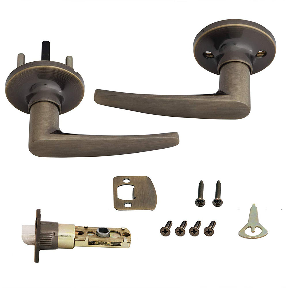 Honeywell Straight Passage Door Lever, Antique Brass, 8104103