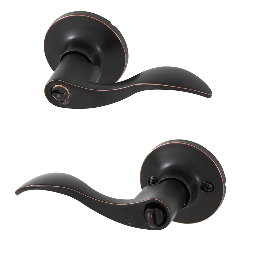 Honeywell Wave Entry Door Lever, Oil Rubbed Bronze, 8106401