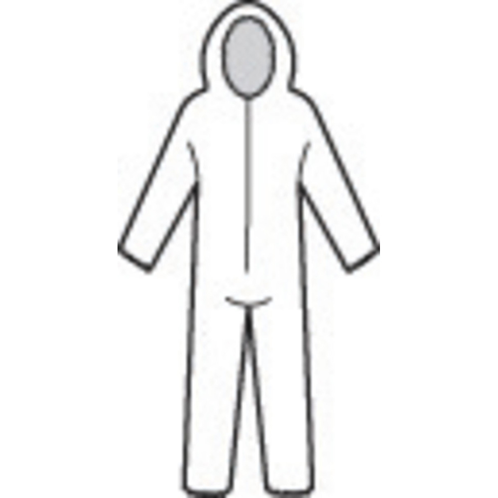 Honeywell North Gen AIR Coverall, White, Large - 85596/L