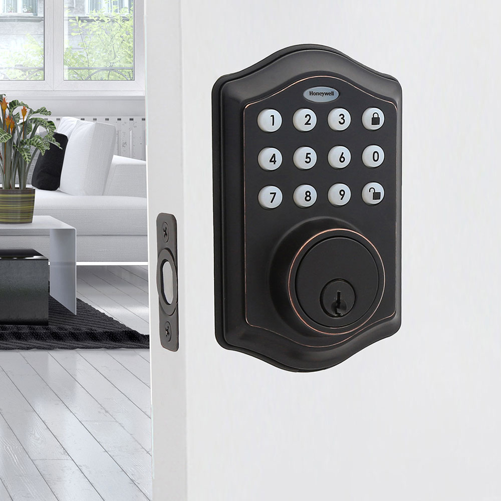Honeywell Electronic Deadbolt Door Lock with Keypad in Oil Rubbed Bronze, 8712409