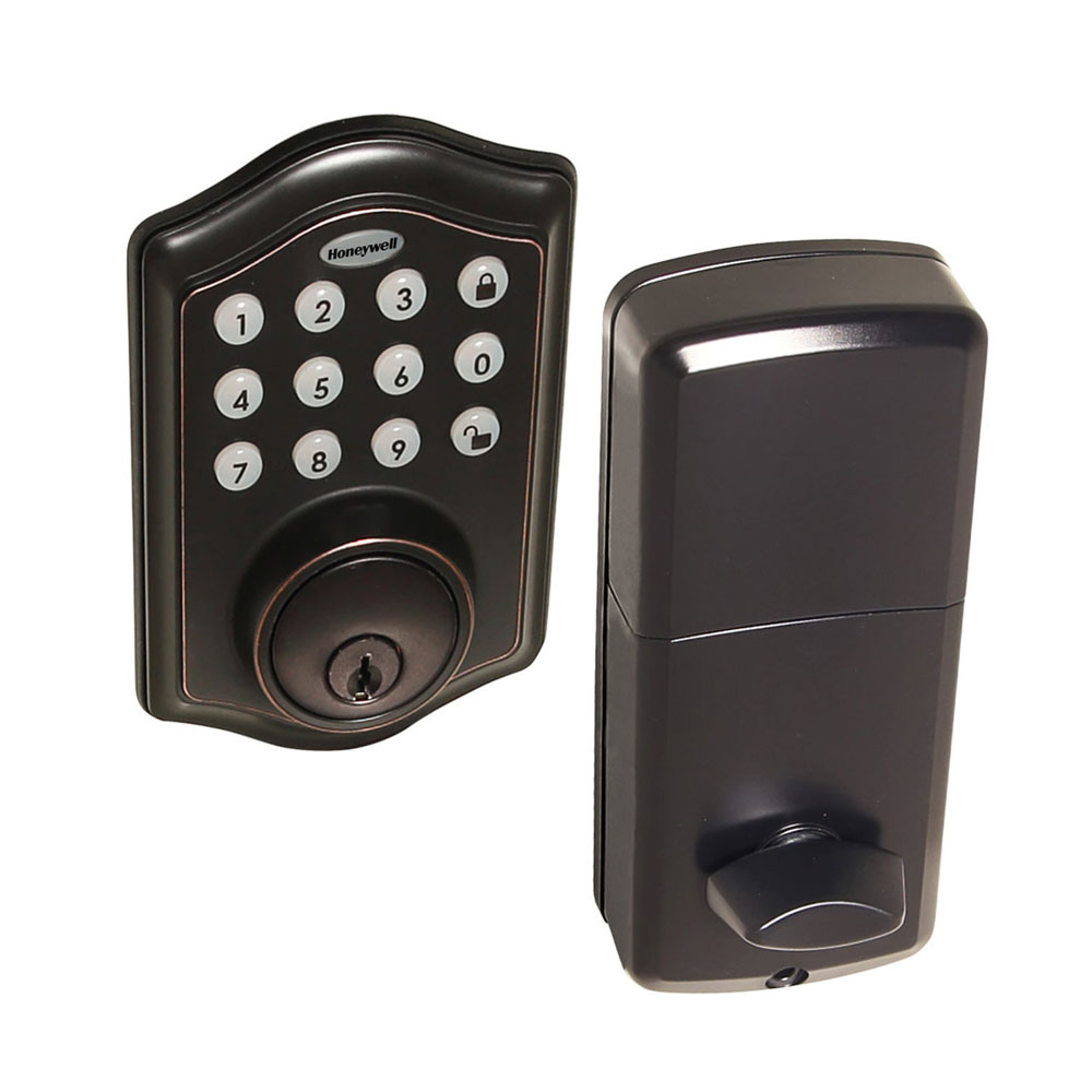 honeywell 8712409 electronic deadbolt door lock with keypad in oil rubbed bronze honeywell store. Black Bedroom Furniture Sets. Home Design Ideas