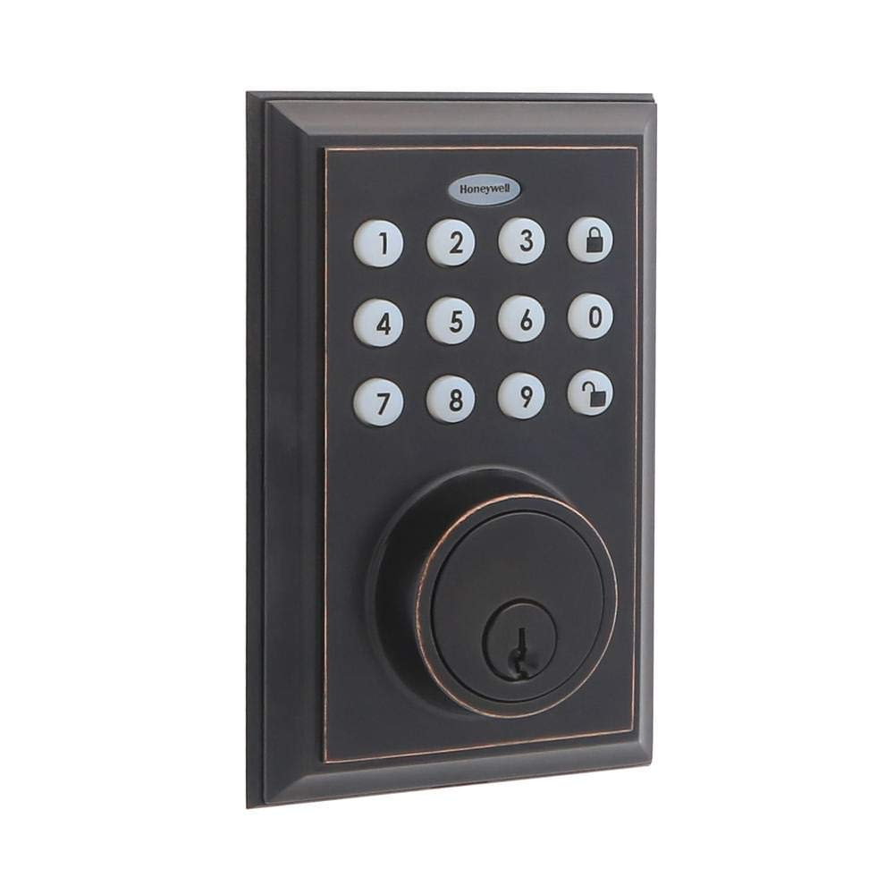 Honeywell Bluetooth Enabled Deadbolt Door Lock With Keypad Oil Rubbed Bronze Honeywell Store