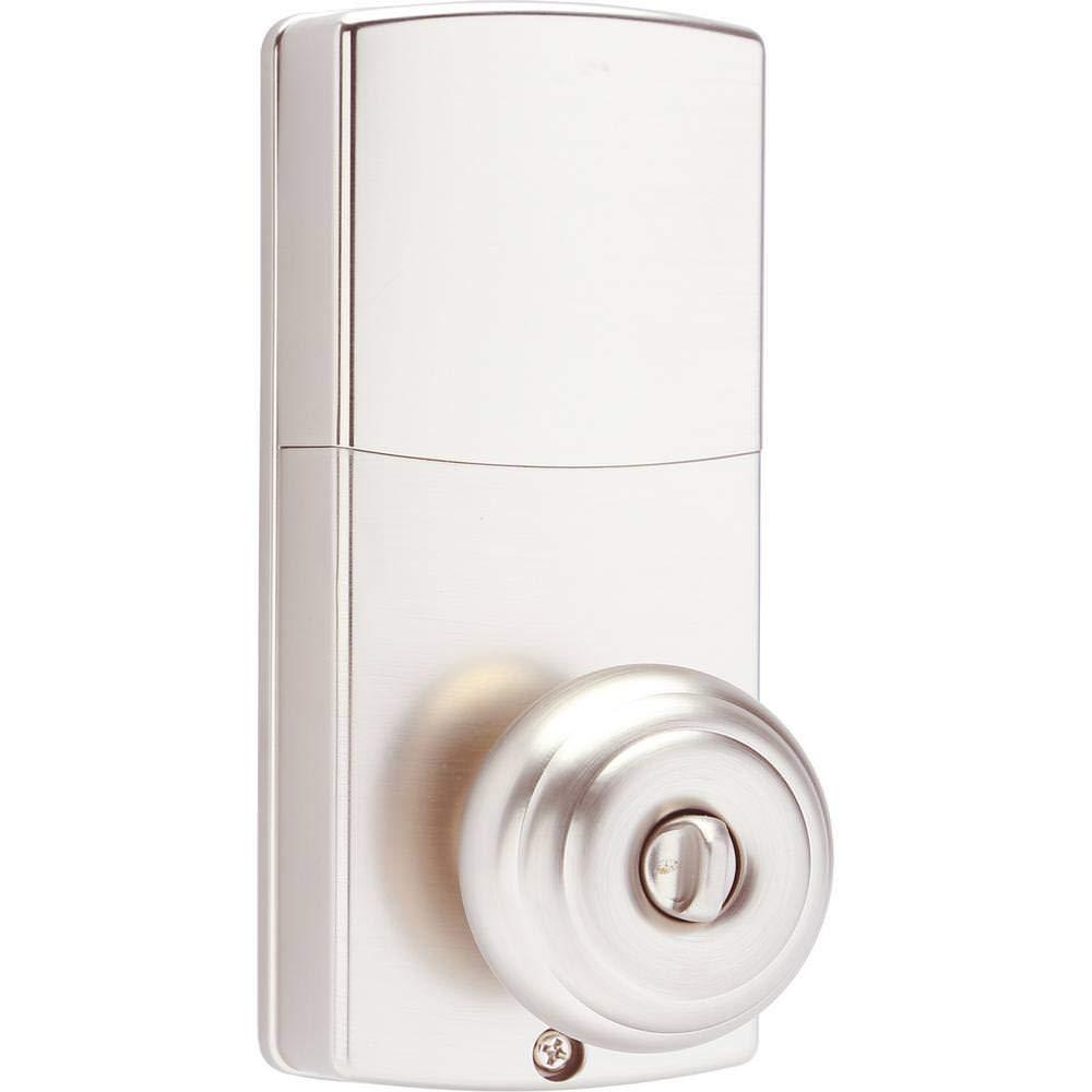 Home Security Electronic Smart Door Lock Keyless Doorknob Gold Digital Keypad Honeywell Bluetooth Enabled Knob With Satin Nickel 8832301s