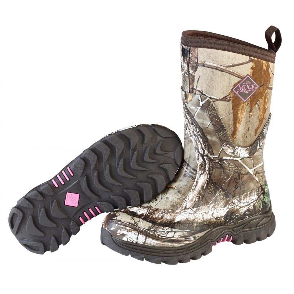 Muck Boots AHM-4RTAP Arctic Hunter Mid Cut Hunting Boot Bark ...