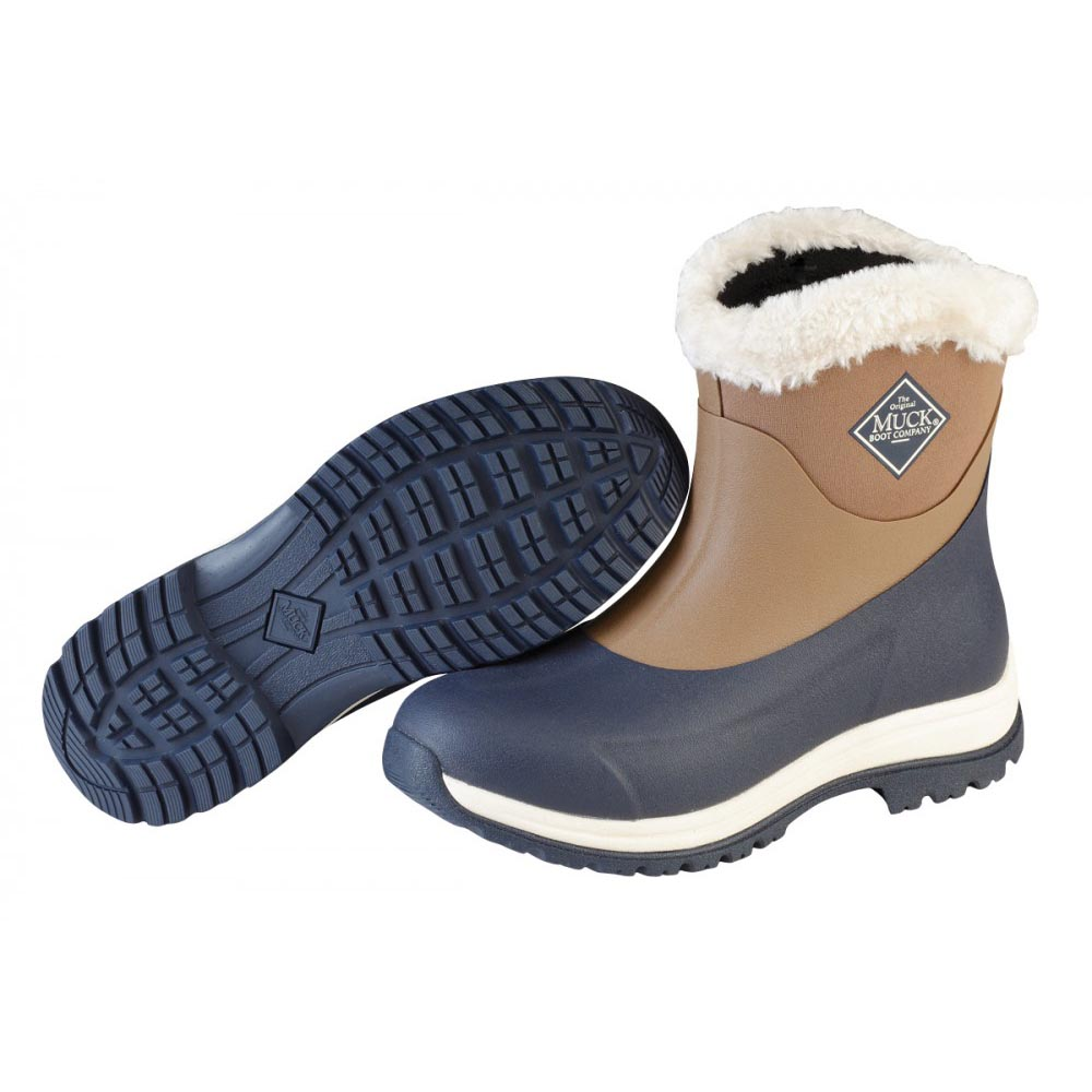 Muck Boots Arctic Apres Slip-On Boot, Otter/Navy/Fog, AP8-201