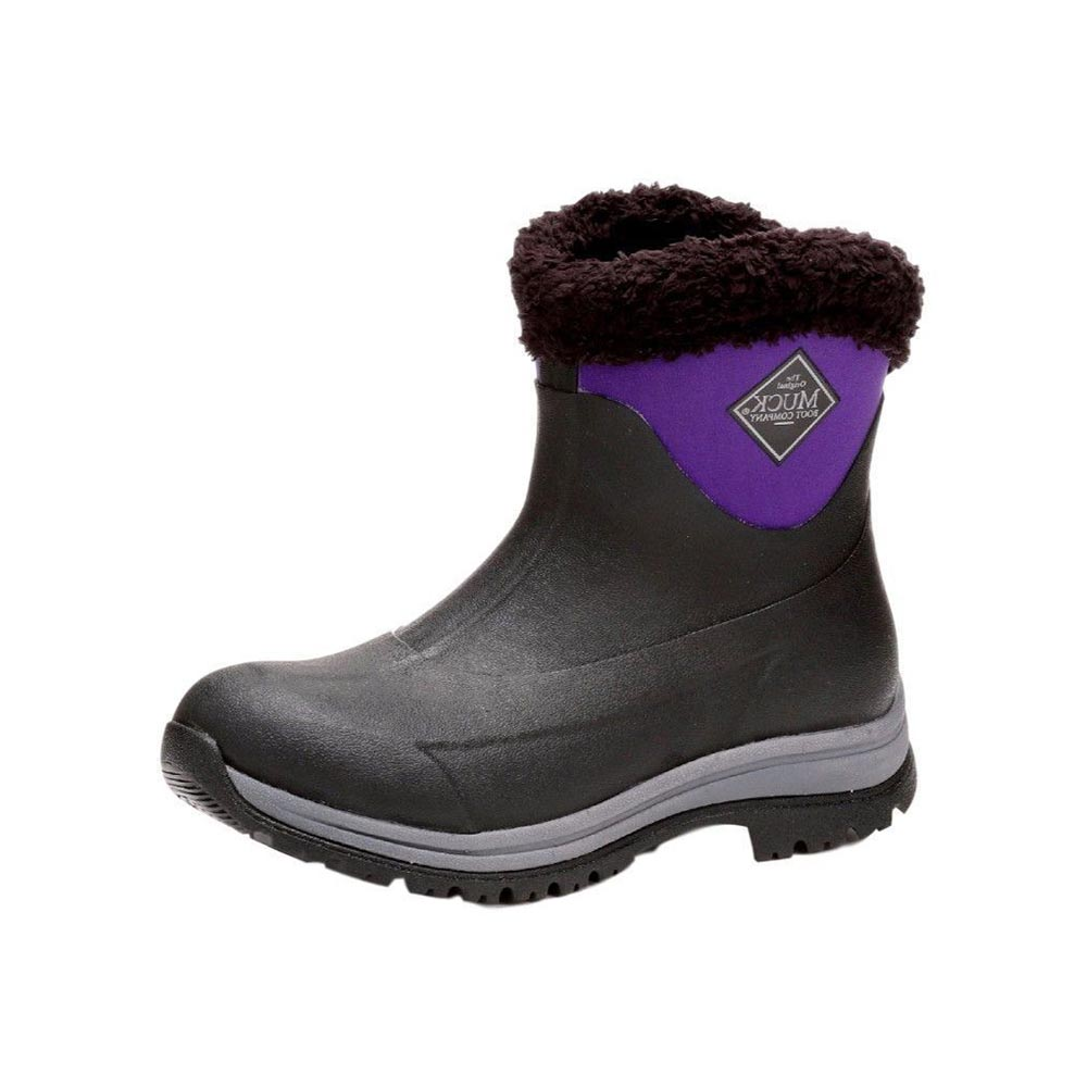 Muck Boots Arctic Apres Slip-On Boot, Black/Purple, AP8-500