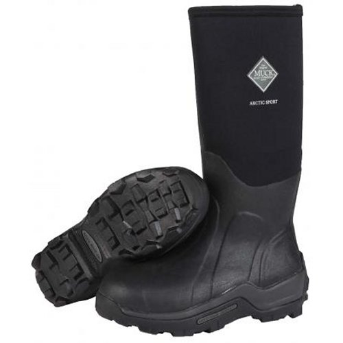Muck Boot Arctic Sport Boot with Steel Toe, Black, ASP-STL