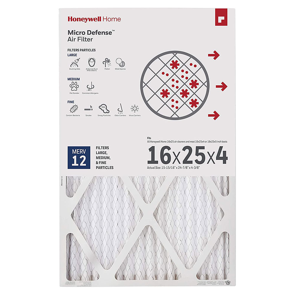 Honeywell Air Filter Ultra Efficiency CF200A1008/U, 16x25x4 - Merv 12