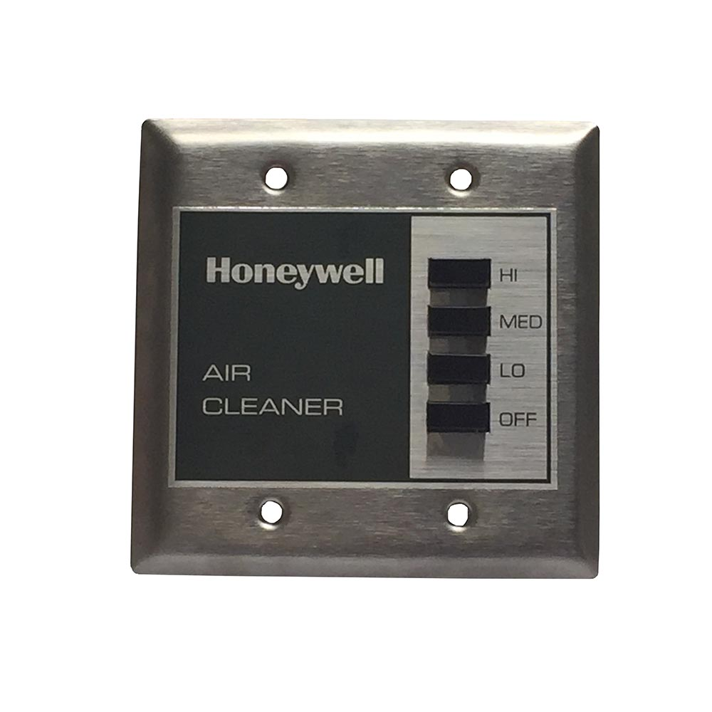 Honeywell F90A1001 Surface Mounted Electronic Air Cleaner with Two Heavy Duty Commercial Cells, 1285 CFM, Gray