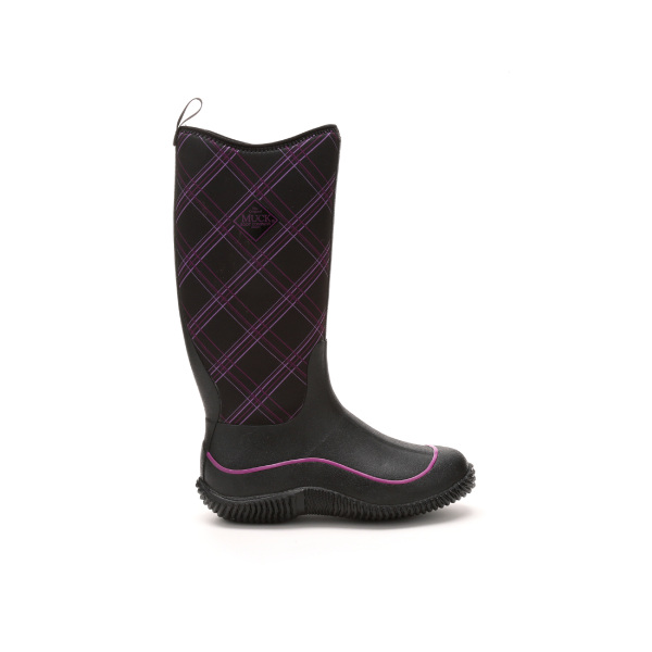 Muck Boots Women's Hale Multi Season Boot, Gray/Purple Plaid, HAW-5PLD